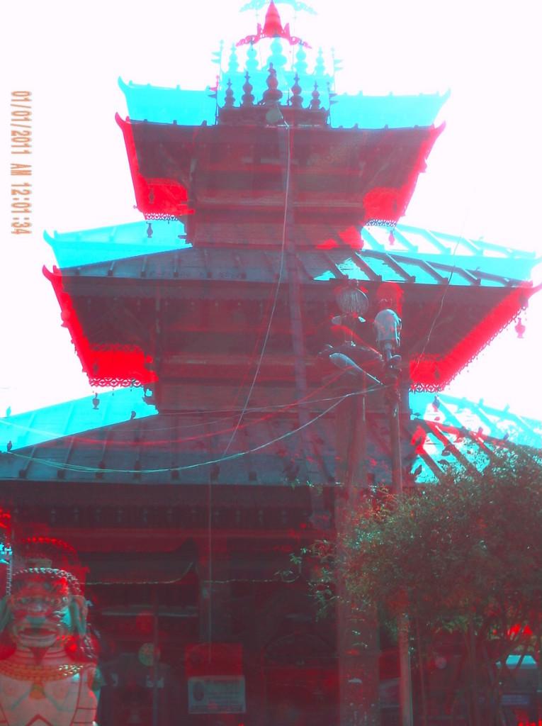 3D photograph of the Balkumari Temple in Nepal