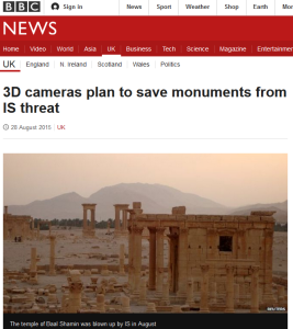 BBC Article on 3D Cameras