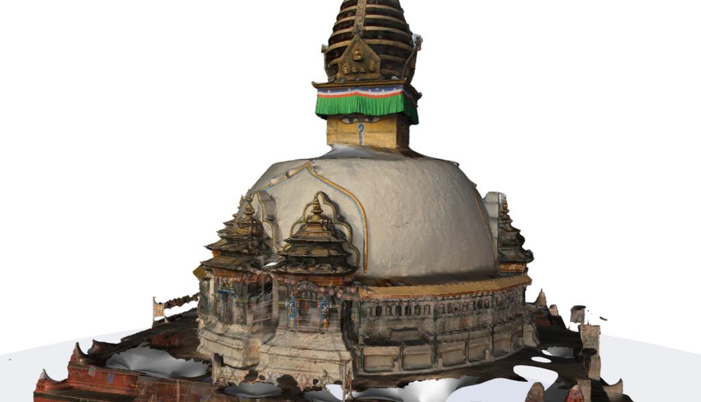 Kathesimbhu Stupa in 3D