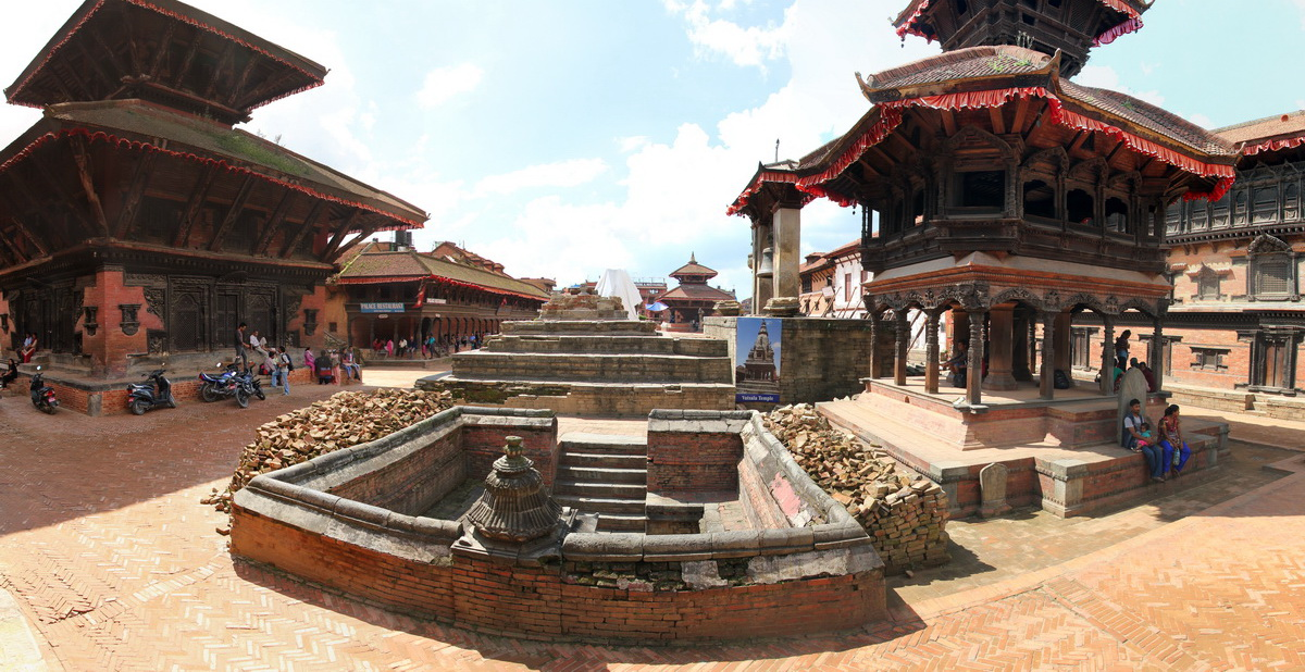 Vatalasa Temple after  the earthquake in Bhaktapur, Nepal