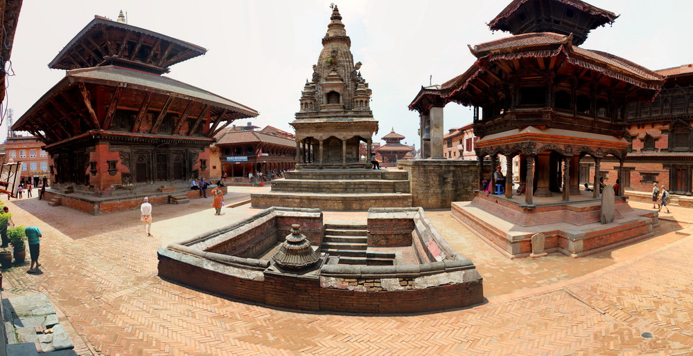 Vatalasa Temple before the earthquake in Bhaktapur, Nepal