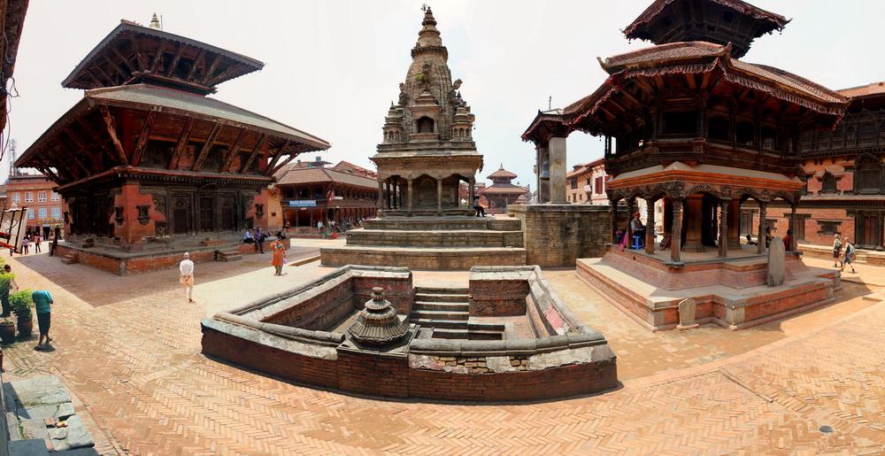 Vatalasa Temple before the earthquake in Bhaktapur, Nepal