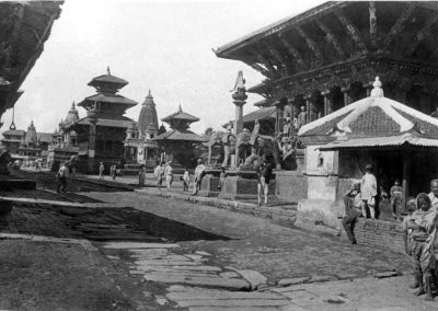 A view of Patan Durbar Square from the north-east in the mid 1910sSource: Images of the Century