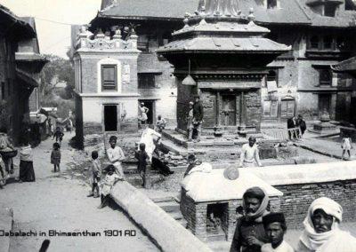 Dabalachi in Bhimsenthan south of Kathmandu Durbar Square Herzog and Higgins 1901AD Source: Kathmandu Valley Preservation Trust