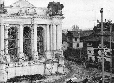 Gaddhi Bhaithak Reconstruction after the earthquake of 1934AD
