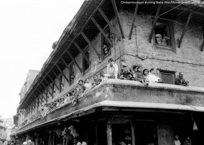 In a building at Chikanmungal during seto machhendranath jatra in 1973ADSource and Copyright: Tod Ragsdale