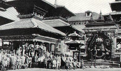 Kaal Bhairab Photo by John Claude White prior 1908AD