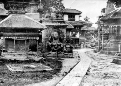 Kal Bhairab and surrounding 1870AD One of the oldest photo of Basatapur Durbar Square