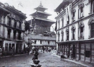 Makhan Tole in around 1940AD Source:Dr Ramesh Shrestha From Himalayan Bank Calender