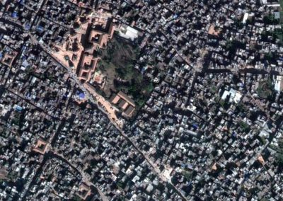 Patan Durbar Square and surrounding area 2005ADTime Lapse Image A2Source: Google EarthToday it still is an oasis between the jungle of buildings
