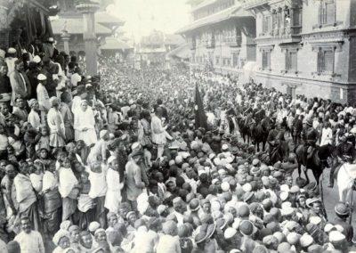 Patan Durbar Square during the state visit of PM Dev ShumsherHerzog and Higgins1901AD