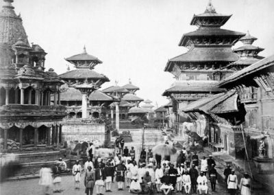 Patan Durbar Square from SouthPhotograph by: Clarence Comyn Taylor, ca 1863AD