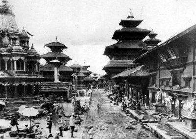 Patan Durbar Square in around 1920ADPhoto by: Dirgha Man Chitrakar