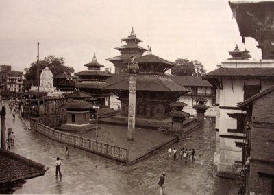 On a rainy dayKTM Durbar SquareOn Foreground: Jagannath TempleOn Background: Taleju Temple