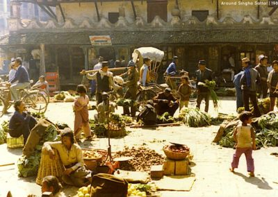 Street vendors sells vegetables at Basantapur near Singha SattalSource & Copyright: Leo1383