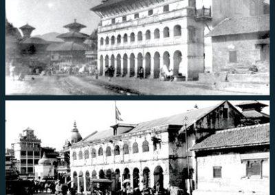 TrasnformationPatan Durbar Square form the east side 1920 AD (Above)Present (Below)Source: KVPT & ECS Nepal Magazine