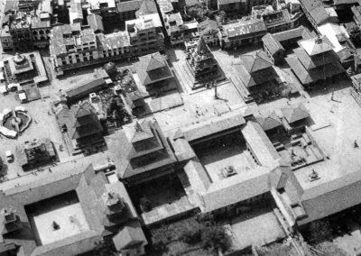 Aerial View of Patan Durbar Square in early 70iesSource: From the germen bookStadtraum und Ritual der newarischen Stadte im Kathmandu Tal